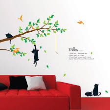 trees cat wall decals how to make cat wall decals inspiration trees cat wall decals