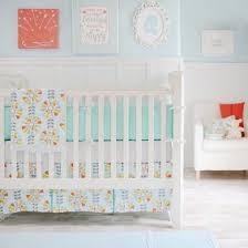 Teal Crib Bedding Sets Gender Neutral Bedding Quality Designer Baby Sets For Both Sex