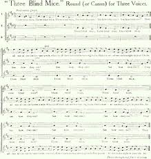 Three Blind Mice Piano Notes Complete Version Of Ye Three Blind Mice