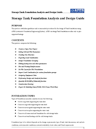 Type Of Foundation Storage Tank Foundation Design Guide Doc Deep Foundation
