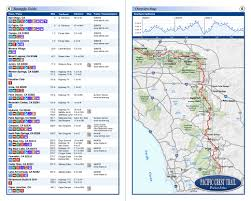 Map Southern California Map Of Pacific Crest Trail In Southern California California Map