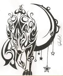 wolf and moon tattoo pinterest wolf moon and tattoo
