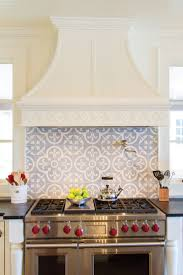 kitchen design white stove hoods with unique backsplash and