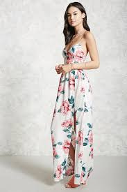 floral maxi dress lace up floral maxi dress forever 21 2000175667