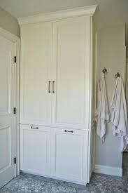 Bathroom Linen Shelves Closet White Linen Closet Rotating Floor Linen Cabinet White