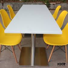 quartz restaurant table tops modern design solid surface cafeteria dining tables buy tables and