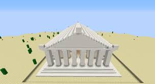 the parthecube ancient greek parthenon in minecraft to scale