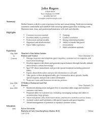 Making Resume Online by Astonishing Restaurant Host Resume 25 For Example Of Resume With