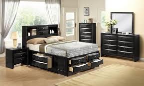 black full bedroom set crown mark emily storage bed set in black b4285