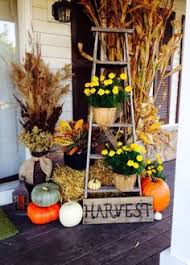 Corn Stalk Decoration Ideas Love The Use Of This Ladder Passion For Vintage Pinterest