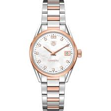 carrera watches tag heuer women u0027s carrera watch 32mm war1352bd0779 two tone band