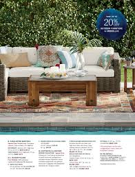 pottery barn patio furniture pottery barn summer 2017 d2 page 16 17