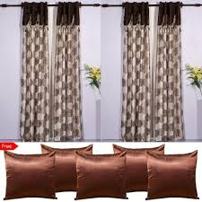buy cheap curtain for windows online shop at discounted price pack of 4 valence long door curtains with 5 cushion covers free