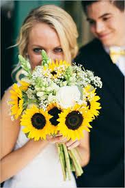 sunflower wedding bouquet brightened summer wedding with sunflower bridal bouquet