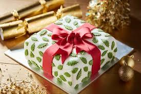 Christmas Cake Decorations Jane Asher holly parcel cake by jane asher poundland