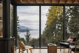 modern sanctuary in the woods of washington state u2026 living room