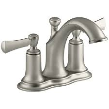 Kohler Mistos Sink Faucet by Shop Kohler Elliston Vibrant Brushed Nickel 2 Handle 4 In