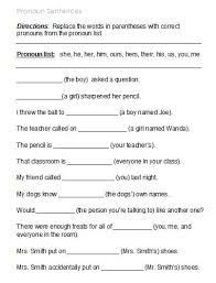 collection of solutions free worksheets pronouns for format