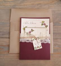 winery wedding invitations fall winery inspired wedding invitation raspberry creative