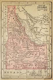 map of idaho map of idaho stock image image of torn historical oceans 13306841