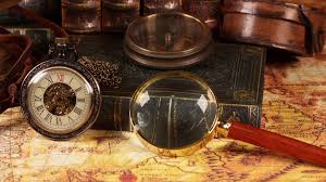 Antique World Map by Vintage Clocks On The Map Old World Map In 1565 Stock Video