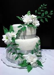 green and white 25th wedding anniversary cake cakecentral com