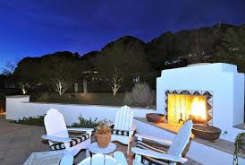spanish style outdoor fireplace home design examples style home