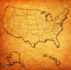 Map Of The United States With States by Old Vintage Map Of Usa With State Borders Stock Photo Picture And