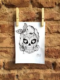 pin up sugar skull lugo crea