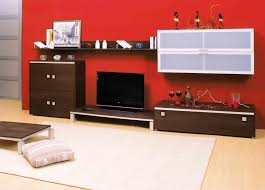 Led Tv Wall Mount Furniture Design Interior Fancy Picture Of Red Living Room Decoration Using Red