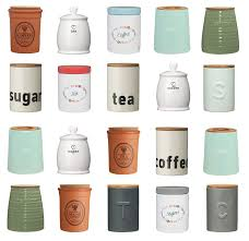 tea coffee sugar canisters pots kitchen storage jars ceramic