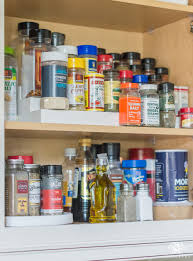 How To Organize Kitchen Cabinets And Pantry Easy Organized Baking And Spice Cabinet Kelley Nan