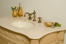 42 inch antique bathroom vanity with cream marble countertop