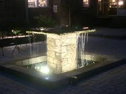 water fountain with lights columbia water features are more enjoyable with outdoor lighting