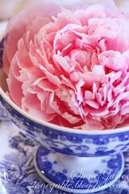 The Pink Peonies by Blue Willow And Pink Peonies Tablescape Stonegable