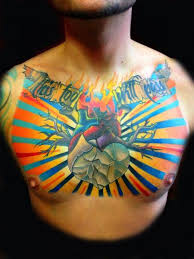 burning heart this too will pass lettering tattoo by transcend