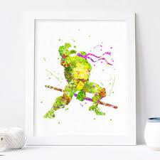 teenage mutant ninja turtles donatello from aquartis watercolor