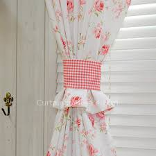 Pink Flower Curtains White And Pink Flower Curtains For Bedroom