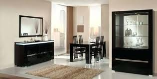 Italian Lacquer Dining Room Furniture Black Lacquer Dining Room Set Black Traditional Dining Set 9pc