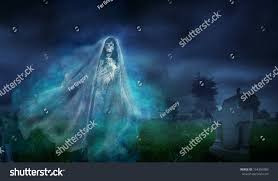 la llorona mexican scary ghost floating stock photo 154350989