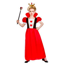 storybook queen of hearts girls fairytale fancy dress costume ages