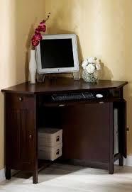 small corner oak home office computer table home decor