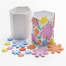 pen holder flower sticker kit make up holder kit craft kit