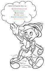 worksheet pinocchio coloring clothes