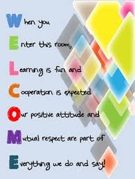 acrostic poem welcome sign for classroom by my journey to 5th grade