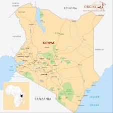 Kenya Africa Map by Kenya Origins Safaris