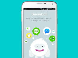 android messaging apps snowball for android is your single window to all other messaging