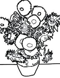 coloring page for van van gogh sunflowers coloring page sunflowers coloring pages