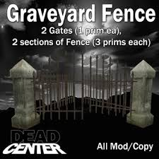 second life marketplace dead center graveyard fence and gates