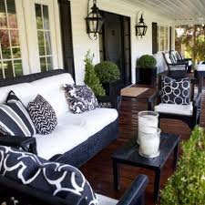 Desig For Black Wicker Patio Furniture Ideas Simple Details Porch Front Porches And White Houses